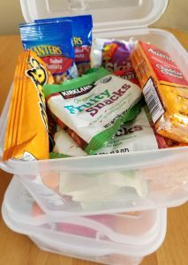 Snack boxes for traveling with grandchildren